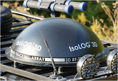 antena de seguimiento / de radio / 3D / isotrópica