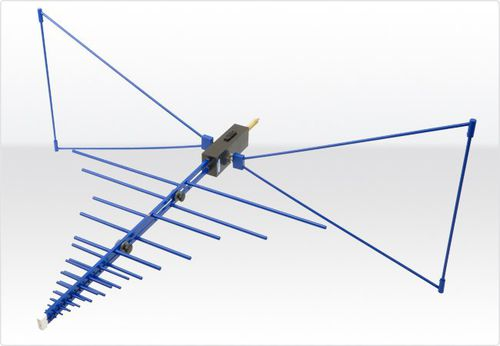 antena de radio / bicónica / log-periódica / híbrida