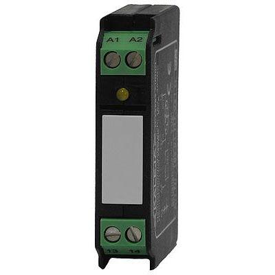 relé estático 24 V CC / con salida DC / con indicador LED / en riel DIN