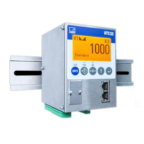 terminal de pesaje digital / visualizador LCD / en riel DIN / IP69