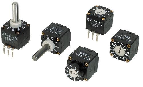 Conmutador rotativo / de selección / multipolar / PCB 3.5 Ncm | 07R Elma Electronic