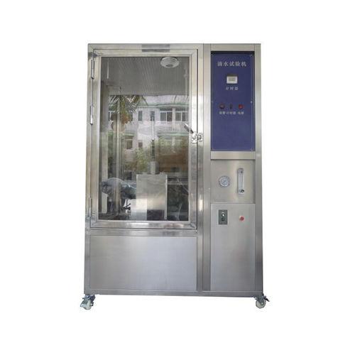 cámara de pruebas de estanqueidad mediante la proyección de agua