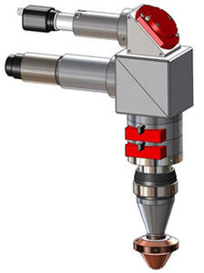 Cabezal de soldadura láser / para con unidad de suministro de polvo / automático ø 1.5