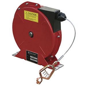 enrollador de puesta a tierra / retráctil / con barra de soporte / resistente a la corrosión