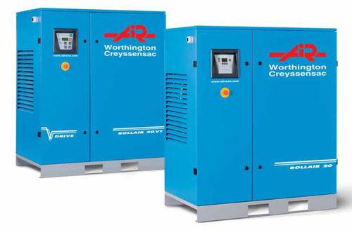 Compresor de aire / transportable / de motor eléctrico / de tornillo Rollair 15 - 40E, Rollair 20 - 40E V  Worthington Creyssenssac