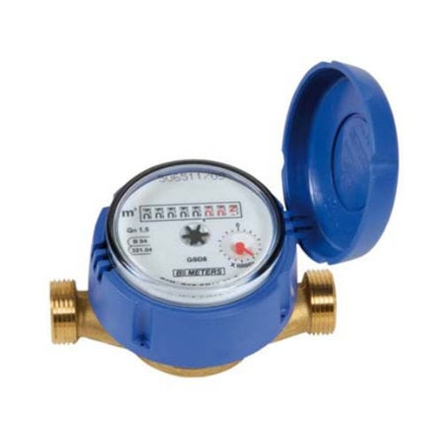 contador de agua / volumétrico / de esfera seca / de turbina de chorro único