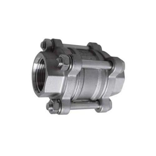 válvula de retención axial / de disco / roscada / hidráulica