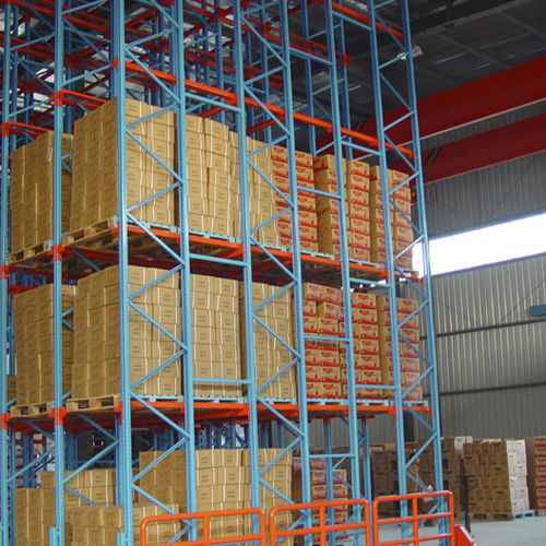 Sistema de estanterías con paleta / depósito de almacenamiento / para carga pesada / para cajas ISO9001, ISO14001   UN-DR0802 Jiangsu Union Logistics System Engineering Co.,Ltd
