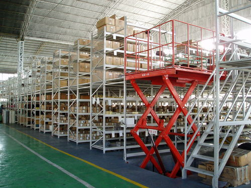 entreplanta industrial para palés