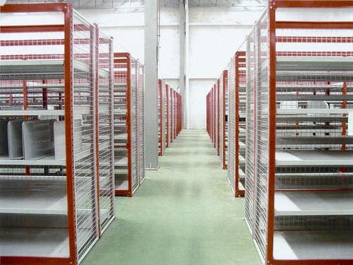 sistema de estanterías depósito de almacenamiento / para carga ligera / semi-pesada / unilateral