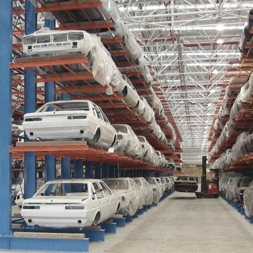 sistema de estanterías cantilever / para carga pesada / semi-pesada