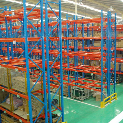 sistema de estanterías con paleta / depósito de almacenamiento / para carga pesada / para cajas