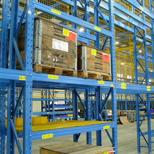 sistema de estanterías con paleta / para cargas pesadas / para cajas / ajustable