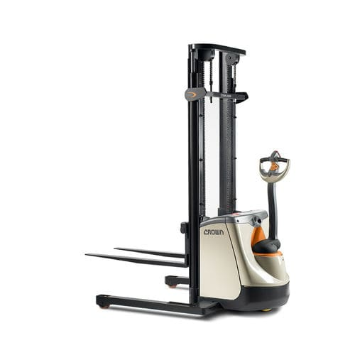 apiladora eléctrica / con operador a pie / para palés / para pasillos estrechos