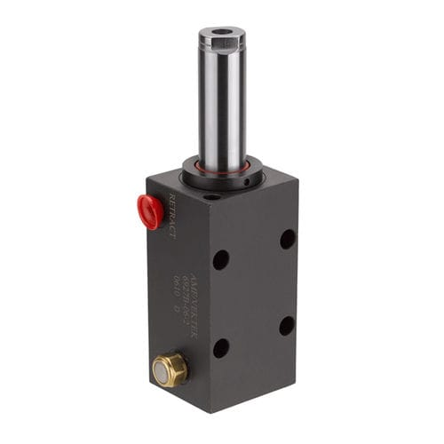 cilindro hidráulico / de pistón / de simple efecto / de acero