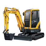 excavadora compacta / mini / con orugas / para obra