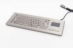 Teclado de mesa / con alfombrilla táctil / de acero inoxidable / compacto TKV-084-FIT-TOUCH-IP65-MGEH INDUKEY