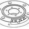 rodamiento de rodillos cruzados / de una sola hilera / de acero / de alta precisión