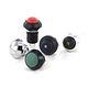 botón pulsador con cabeza fungiforme / en miniatura / electromecánico / acción momentánea