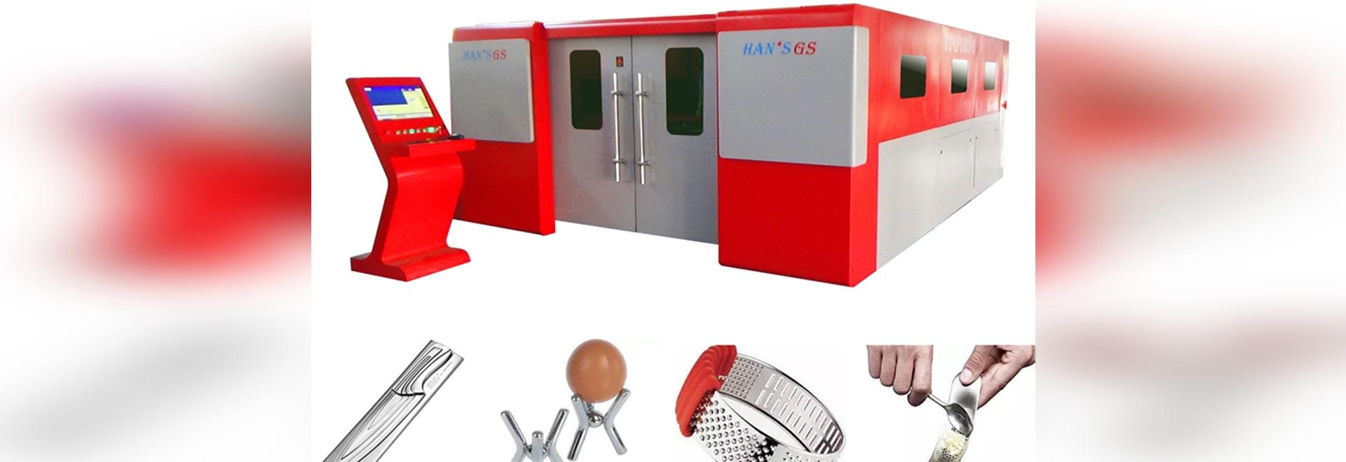 2 años de la garantía de HANS GS de la fibra de máquina para corte de metales del laser son ampliamente utilizados en la industria del artículos de cocina