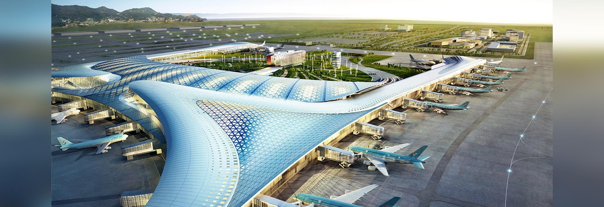 El aeropuerto internacional de Inchon es el aeropuerto más grande de la Corea del Sur