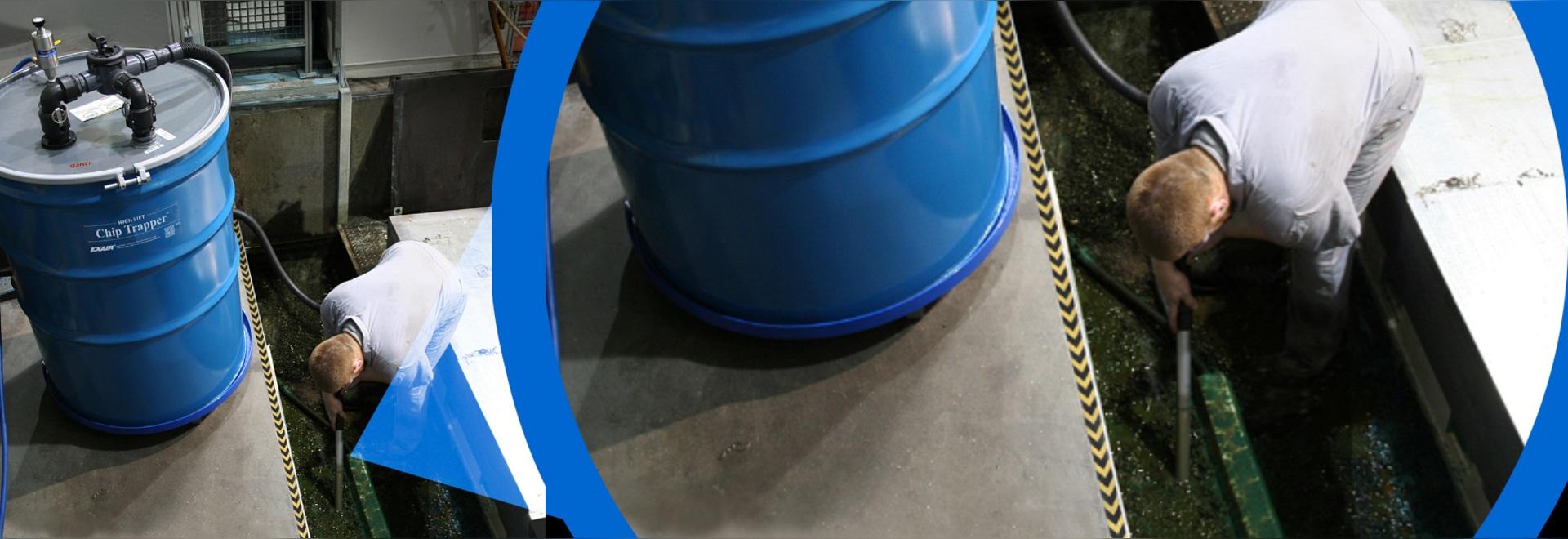 Alta elevación Chip Trapper Moves Liquid Farther y más alto