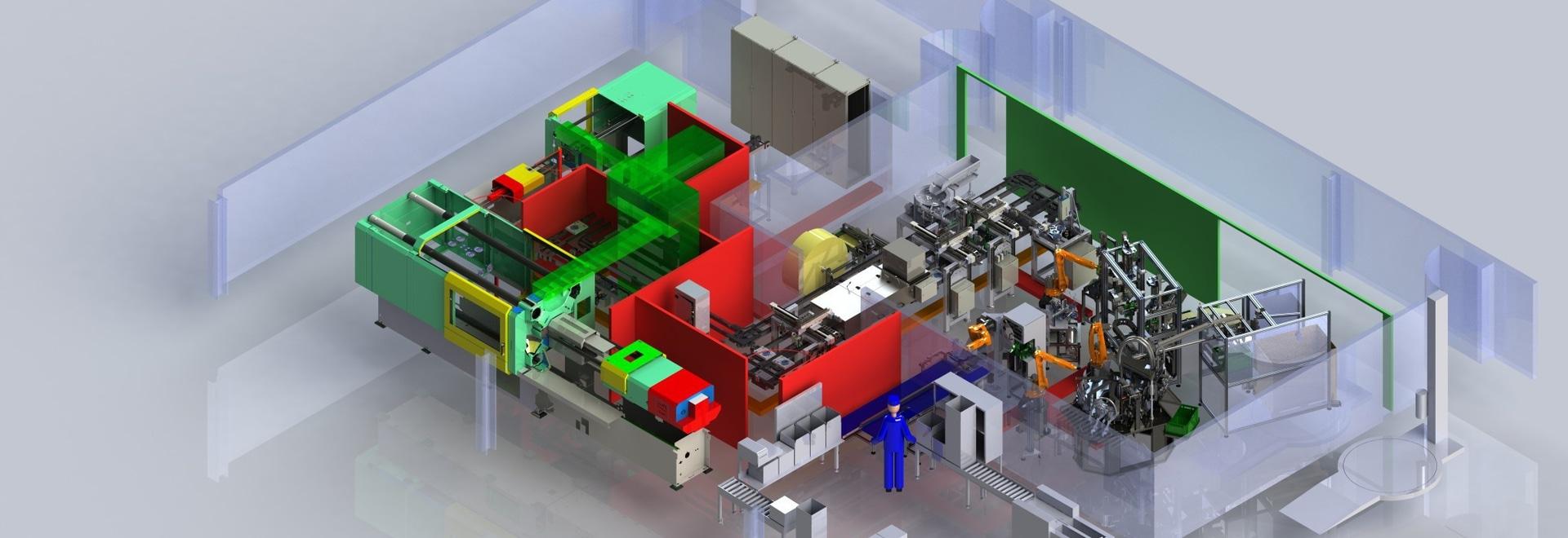 bancos del robomotion en la experiencia componente de MISUMI para aerodinamizar procesos de fabricación