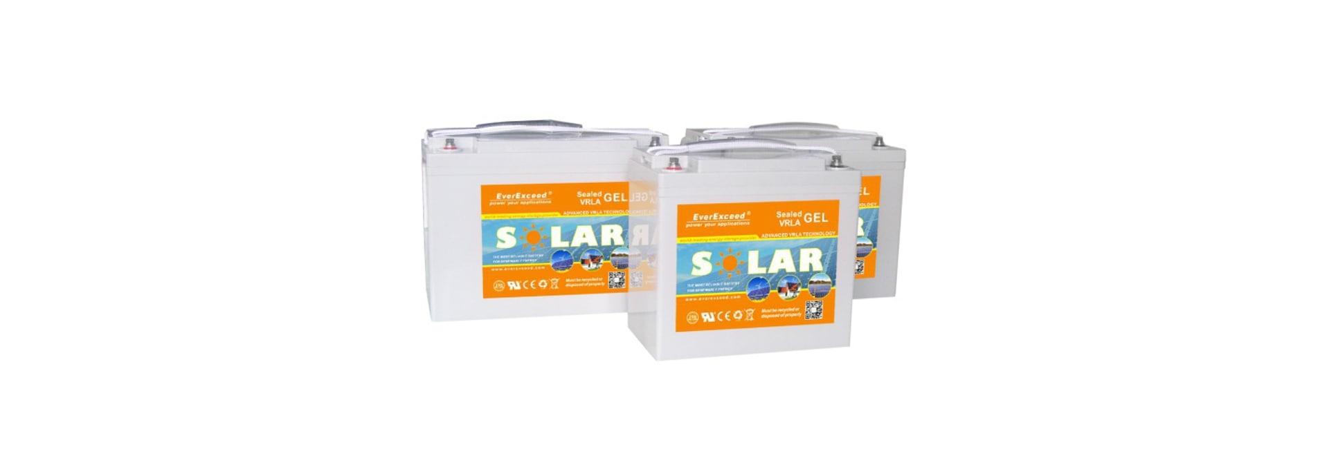 Batería solar de la gama del gel de EverExceed/alto-confiabilidad/ciclo profundo/UL/CE /ISO