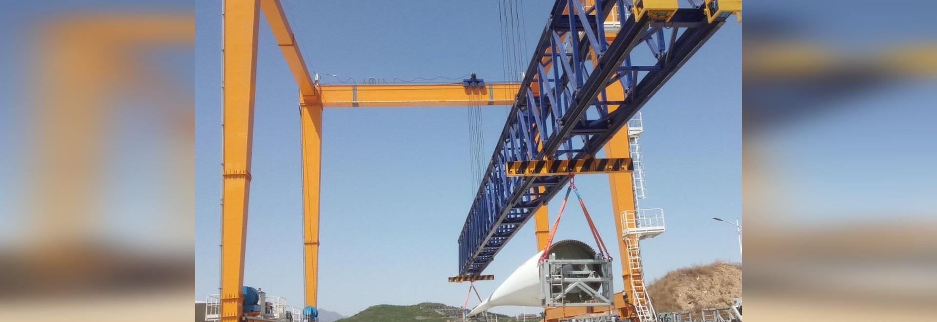 La carretilla puente para la cuchilla de elevación de la energía eólica
