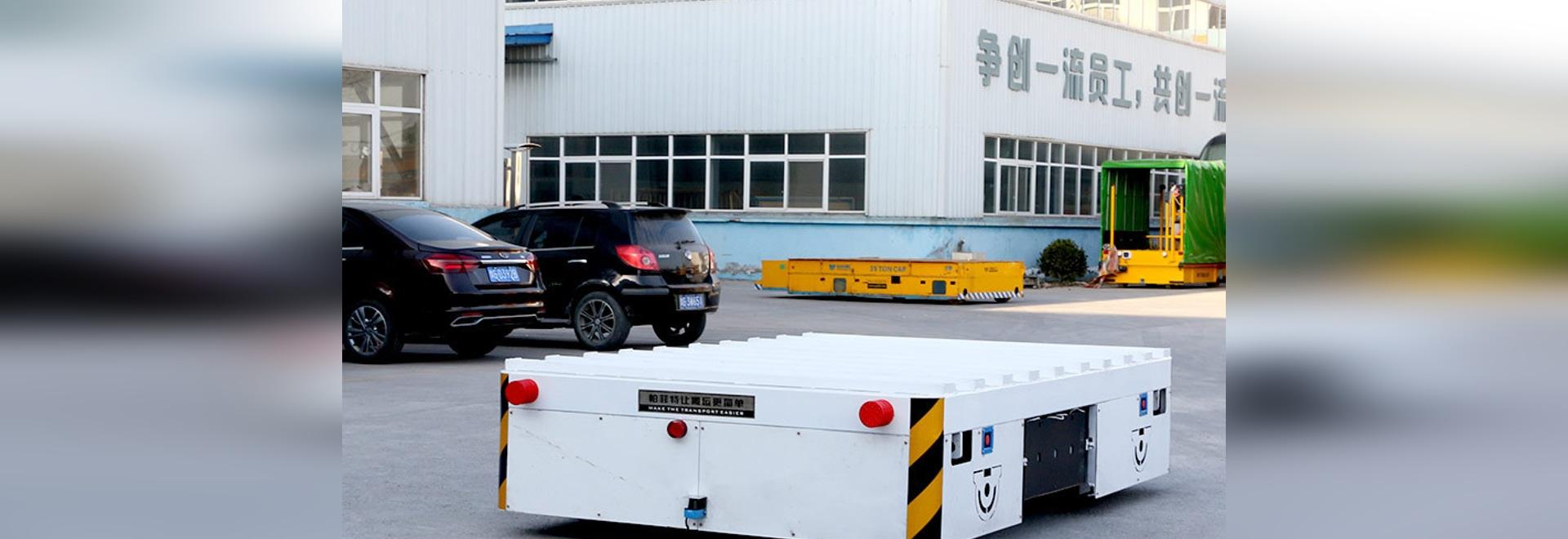 carro de transferencia automático guiado y orientable para cargas pesadas