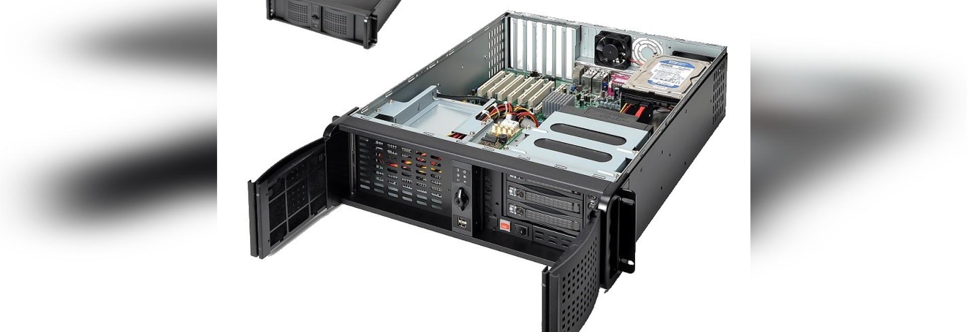 Chasis computacional del servidor de la nube de AICSYS Inc. 3U IoT para la placa madre de ATX y 10 bahías de impulsión