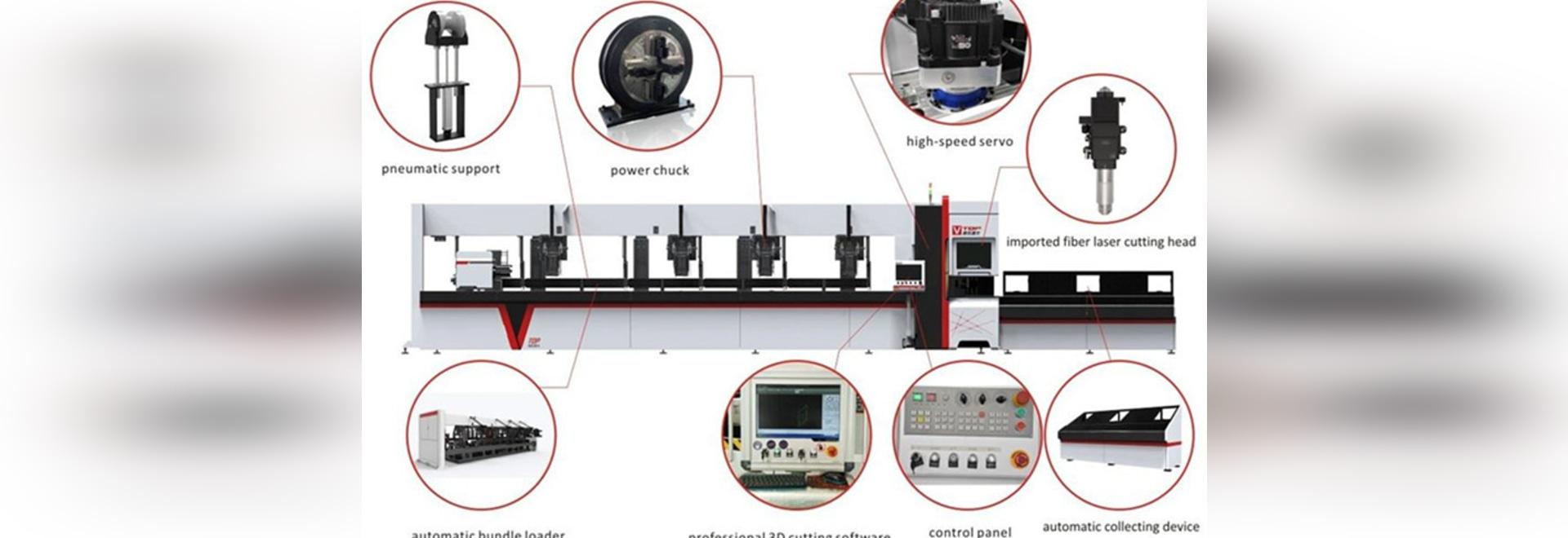 cortadora de acero del laser de la fibra del tubo del acero inoxidable 3000w/de carbono con el cargador automático del paquete