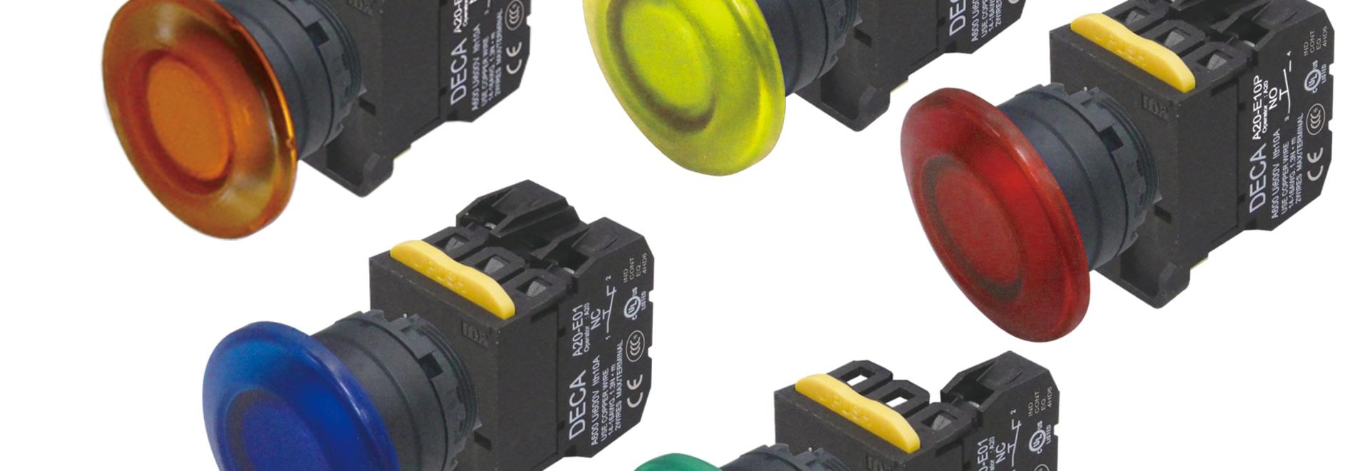 DECA iluminó los botones - proliferan rápidamente Ø40mm