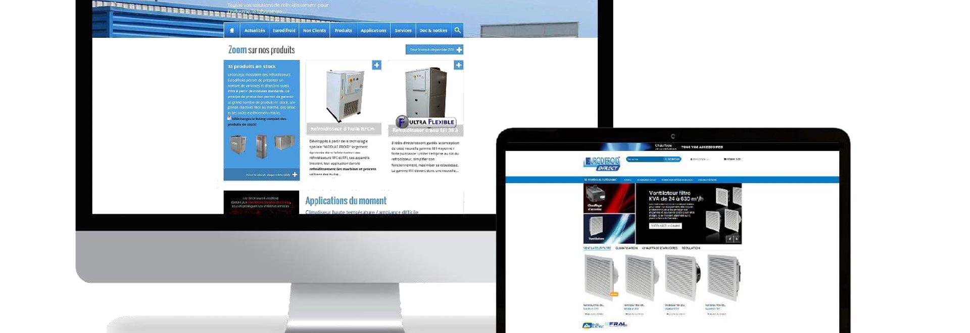 Las dos páginas web de Eurodifroid
