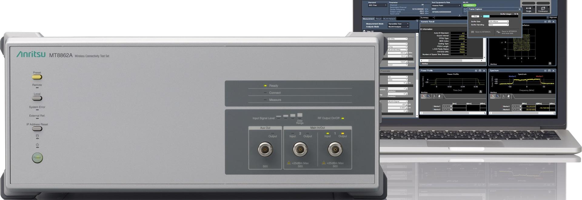El equipo de prueba de conectividad inalámbrica es compatible con IEEE802.11ac