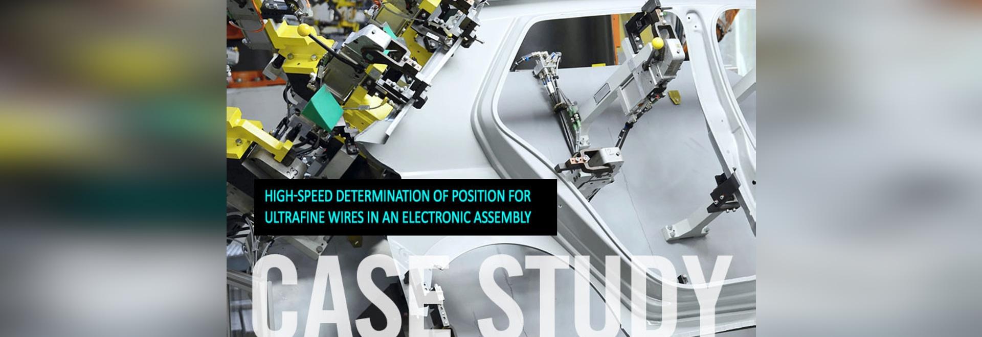 Estudio de caso: Determinación de la posición para los alambres ultrafinos - dünner Drähte del sehr de Positionsbestimmung