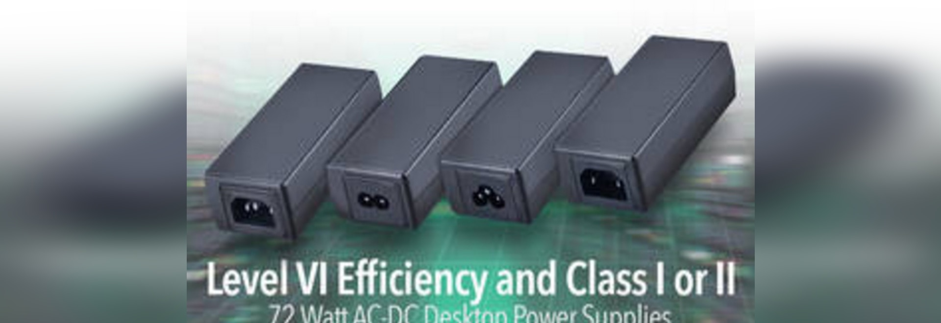 fuente de alimentación de escritorio de 72W AC-DC con eficacia del nivel VI y aprobaciones mundiales de la seguridad