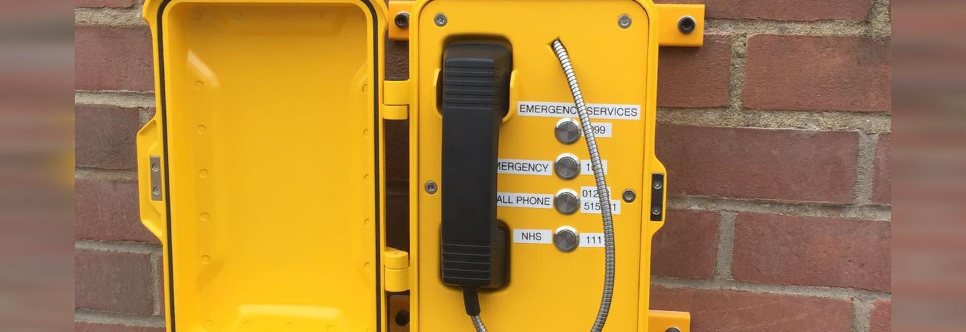 Funciona increíble del teléfono de emergencia de J&R en Forest Park, Norfolk, Reino Unido.