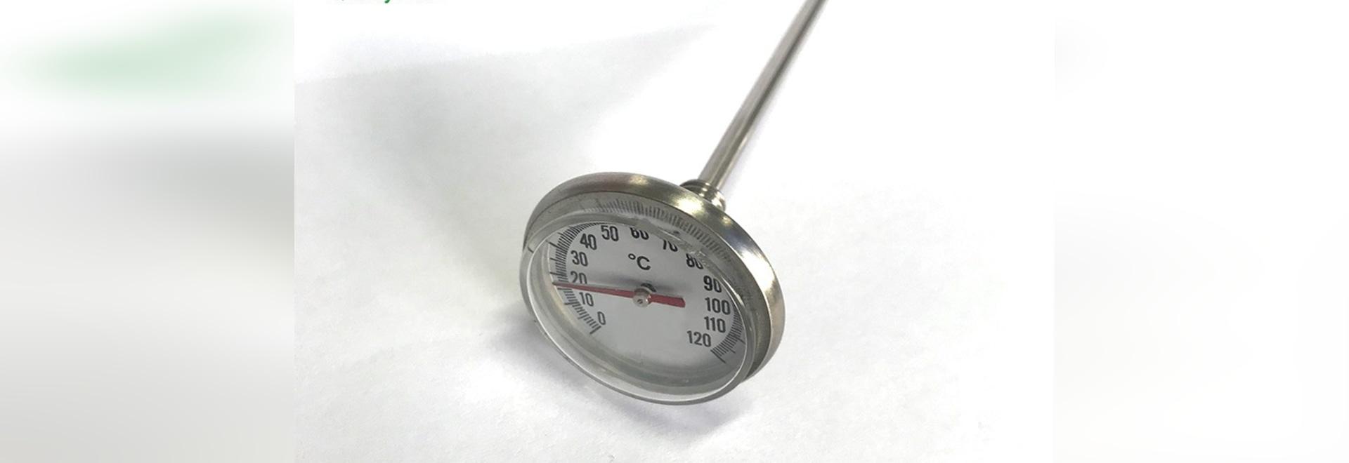 Mantenimiento y precaución del termómetro bimetálico