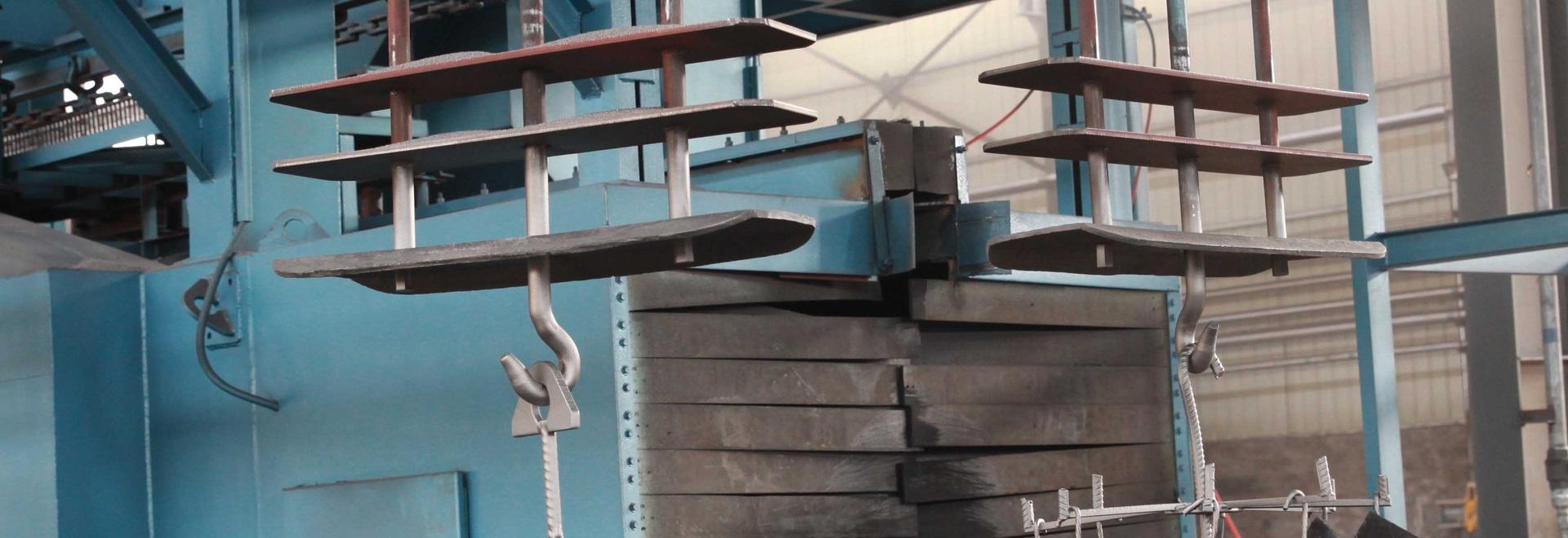 Q38, tipo catenario máquina de la serie Q48 del chorreo con granalla