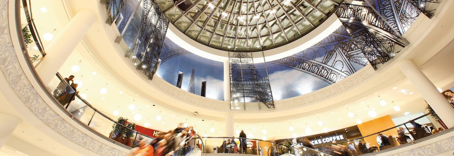 Los recintos de protección contra incendios de Spelsberg contribuyen a la seguridad del centro comercial Limbecker Platz