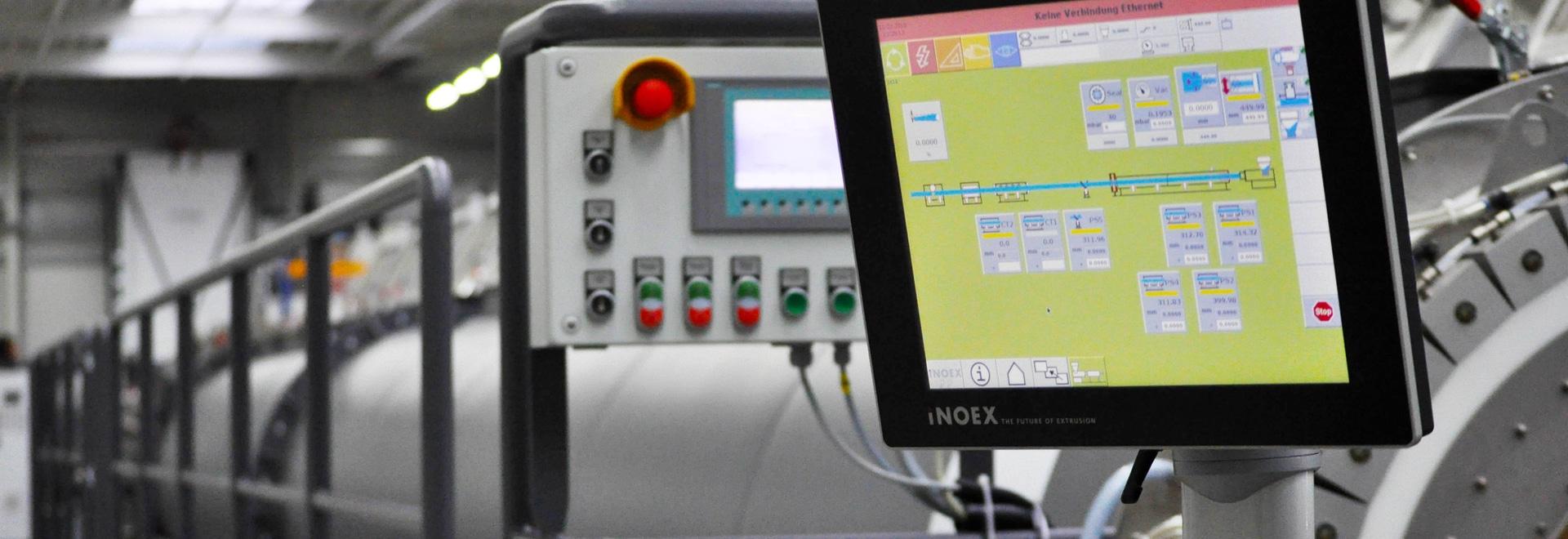 Sistema rugoso de HMI con el tacto de PCap