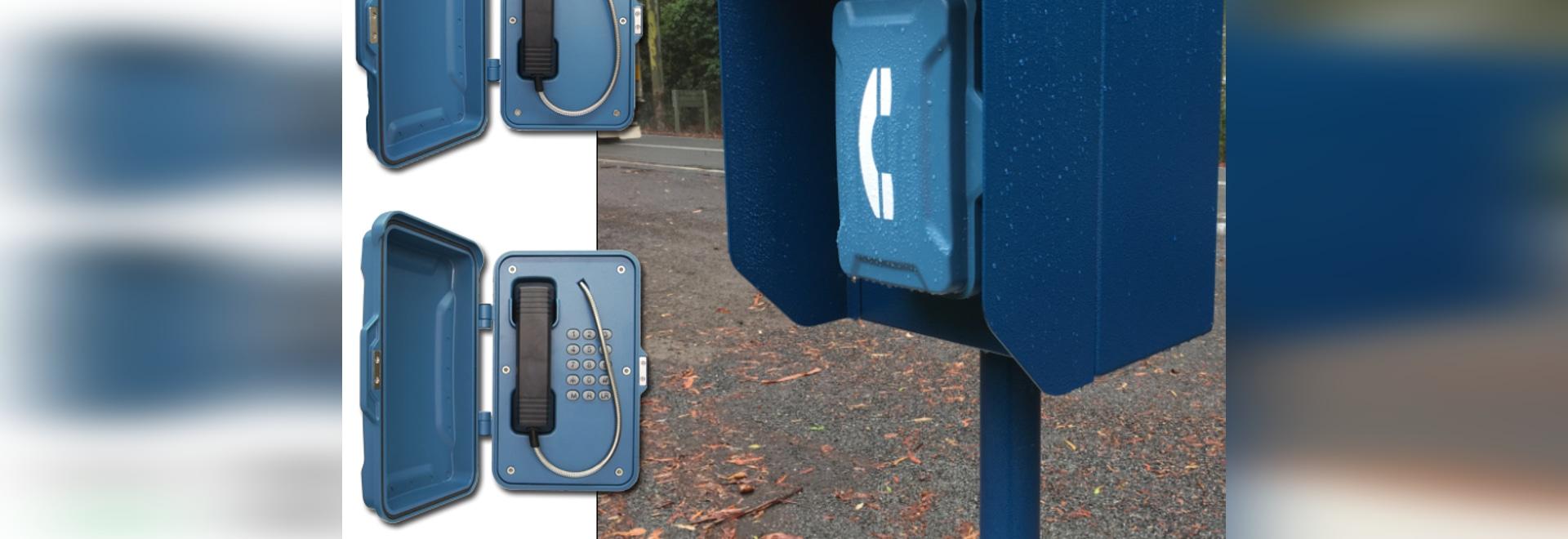 Teléfonos del borde de la carretera de la emergencia instalados en la carretera de Oxley en Australia