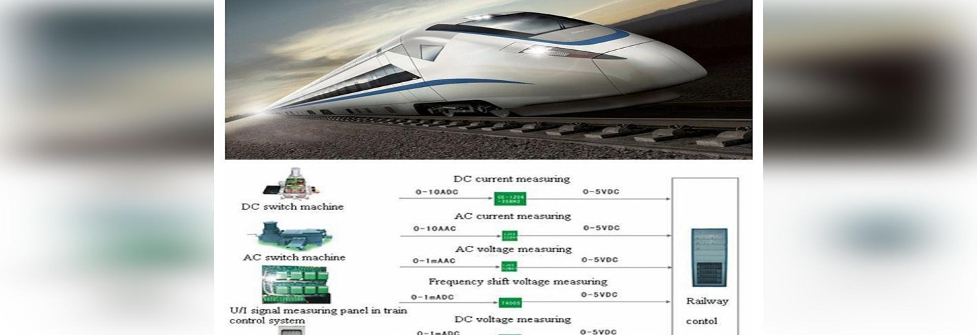 Transductor especial aplicado en ferrocarril