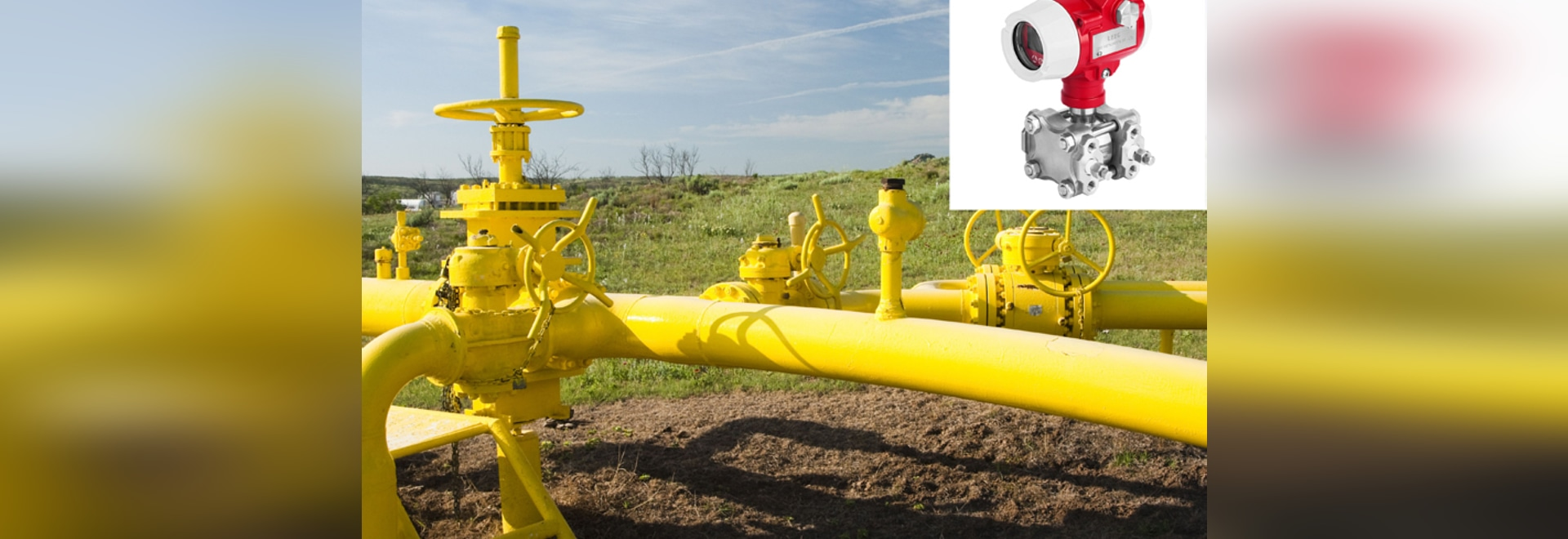 Transmisor de presión de DMP305X usado en gas natural