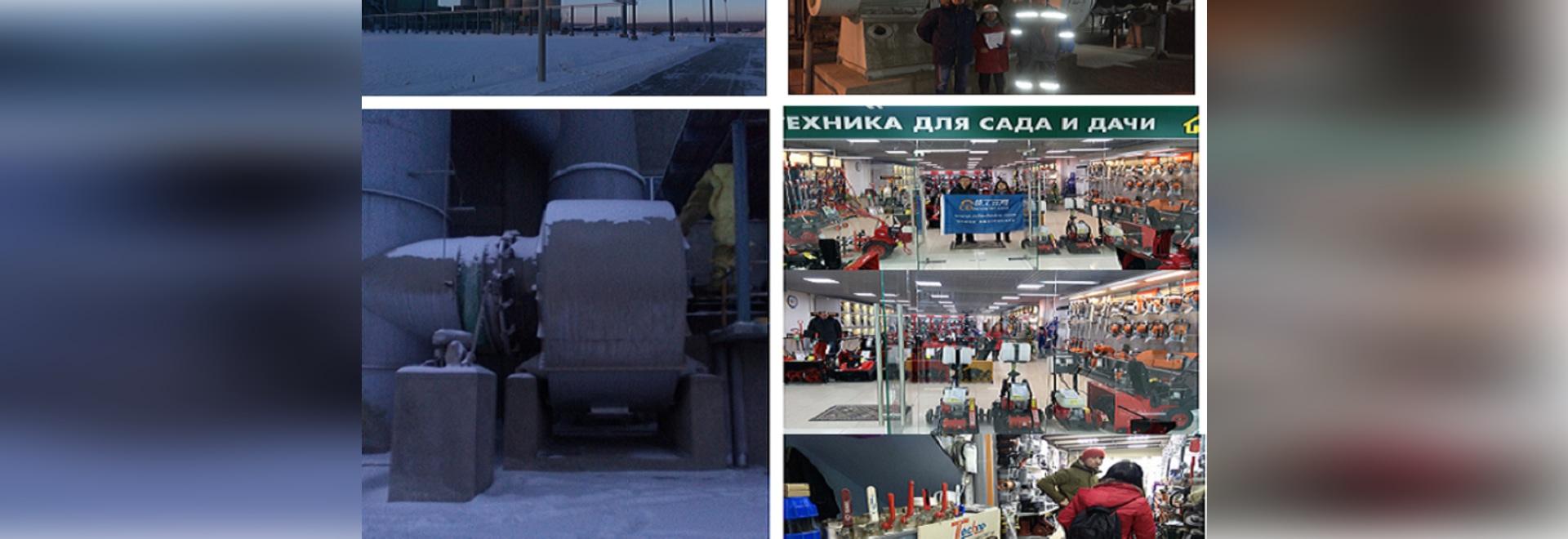 Visita del negocio al ruso