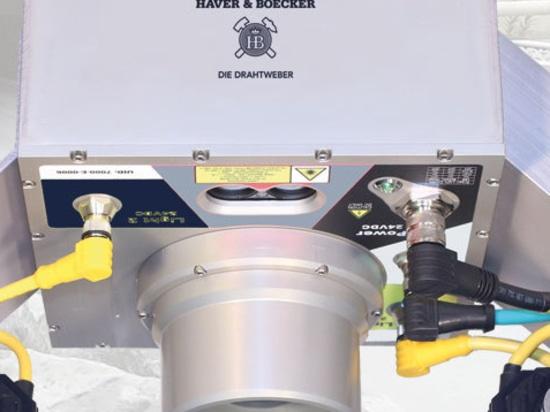 Sistema HAVER INLINE para el análisis directo de materiales en la cinta transportadora.