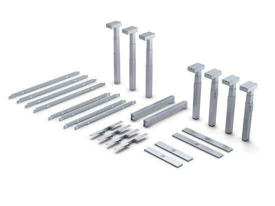Sistema modular para diferentes bastidores de mesa