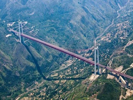 Las grúas de construcción de SANY demuestran funcionamiento notable en puentes colgantes más altos del mundo