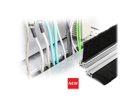 Tira universal del cepillo con el perfil KDR-BES-U de la abrazadera para el cable fácil alimentación-por